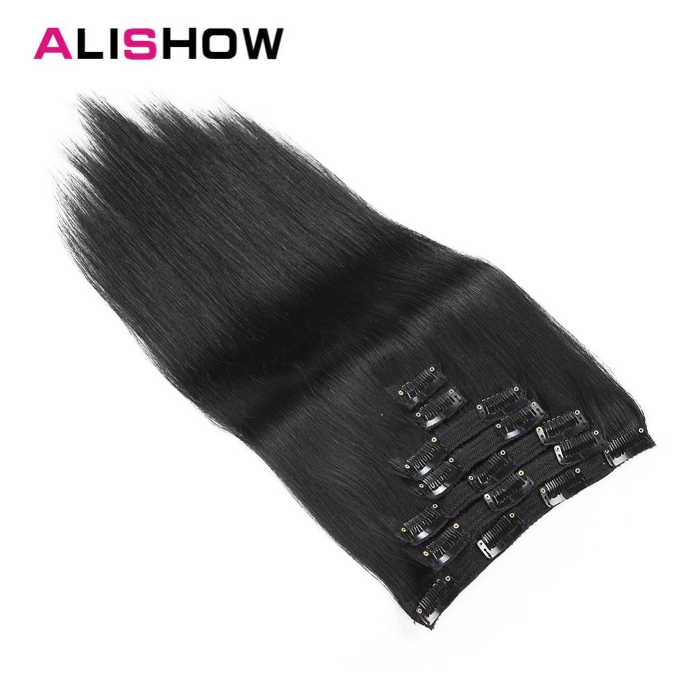 Alishow Clip In Haarverlängerungen Gerade Remy Haar Voller Kopf Gesetzt Menschenhaar Clip In Extensions 160g 8 Teile/los