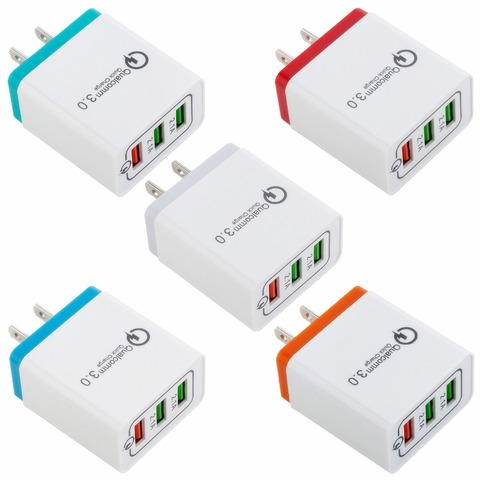 3 Ports Quick Charge 3.0 USB Charger Power Adapter for iPhone iPad Samsung Xiaomi LG HTC Mobile Phones QC3.0 Travel Fast Charger Karachi