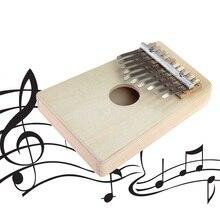 10 Keys Kalimba Mbira Likembe Sanza Thumb Piano Pine Light Yellow Instrument