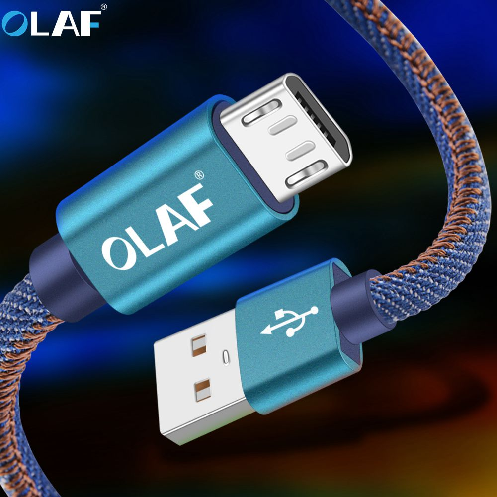 OLAF Micro USB Cable 1m Fast Charging Sync Data Android Adapter Charger Cable for Samsung