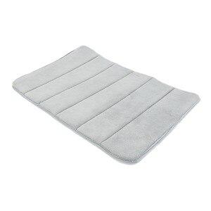 Image 5 - 1PC 40x60cm 홈 목욕 매트 미끄럼 방지 욕실 카펫 소프트 산호 양털 메모리 폼 깔개 매트 주방 화장실 바닥 장식