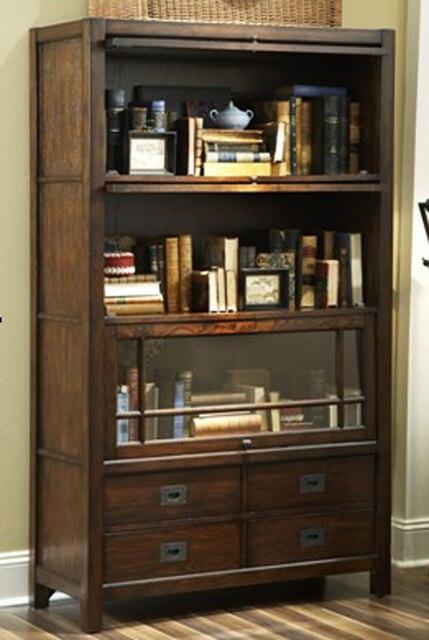 amerikaanse boekenkast massief hout meubelen rode eiken boekenkast meike verse huisdeur vitrine