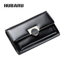 Купить с кэшбэком HUBARU Women Wallets Phone Pocket Zipper Wallet Female Fashion PU Leather Slim Design Coin Purse Clutch Clamp For Money Standard