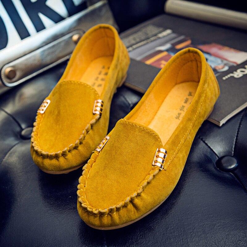 Chaussure Femmes Appartements Automne Confortable on Printemps Mocassins Slip jaune Chaussures 2016 vert C350 Noir Plates Solide rouge Casual Femme 87fHq