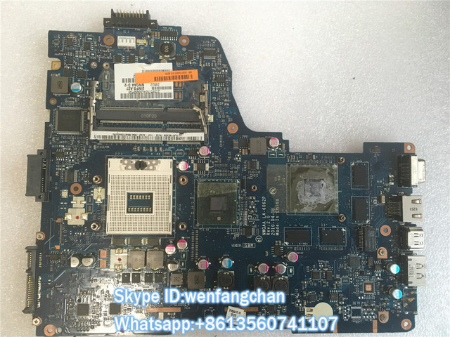 Free shipping  For Toshiba Satellite A660 A665 Original laptop Motherboard NWQAA LA-6062P K000104400 N11P-GE2-A3 non-integrated