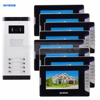 Quality 7 4 Wired Apartment Video Door Phone Audio Visual Intercom Entry System IR Camera For