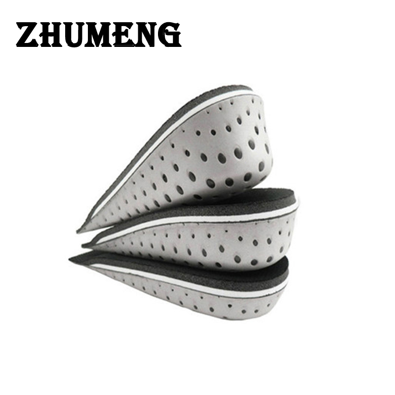 ZHUMENG Men and Women Increasing Orthotics Half Insole Pad Height Cushion Taller Male Female Footwear Shoes Height Cushion 2016 2 pcs invisible shoe taller insole 6 color increasing height short helper half lift air 2 5cm cushion insert 6 colors