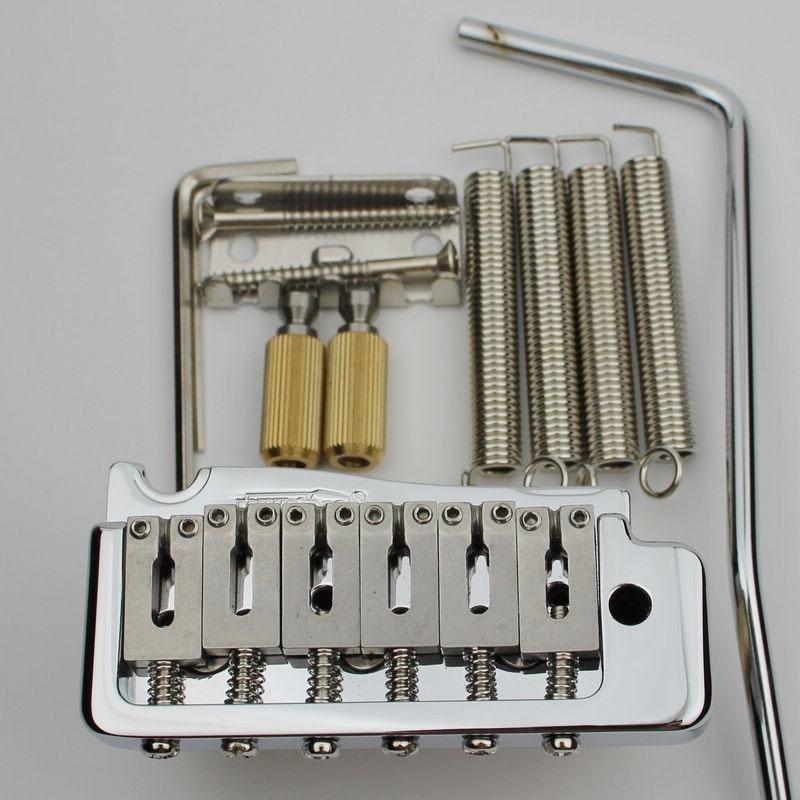 Guitar Parts WILKINSON WVP Tremolo Bridge 2 Point Steel Saddle Chrome BLACK