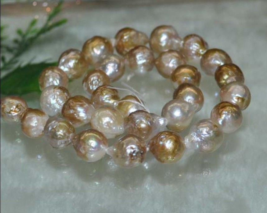 Natural Rare AAA 12 13MM South Sea loose pearl 15 inch