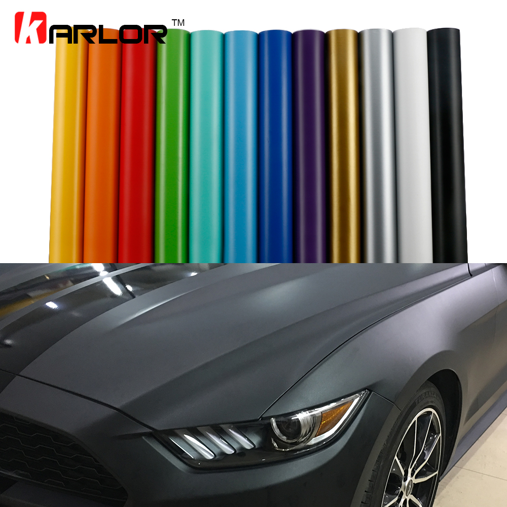 Matt Color Change Vinyl Film Car Wraps Hood Roof Whole Body Stickers Decal With Air Bubble Car Styling Automobiles Accessories car styling matte chrome brushed metallic vinyl film car stickers and decals automobiles car body wrapping foil air bubble free