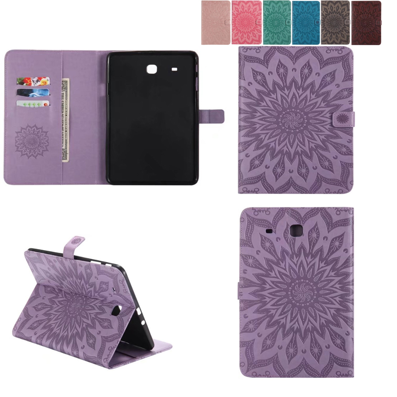 Retro font b Tablet b font case folding Flip Wallet PU Leather Stand font b Cover