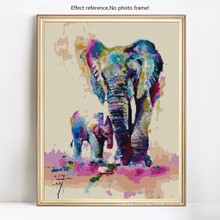 HUACAN DIY 5D Diamond Mosaic Painting Elephant Crystal Drawing Diamond Embroidery Cross Stitch Animals Series Home Decor