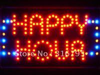 Led036-r happy Hour Bar Beer LED Neon Light entre Atacado Dropshipping