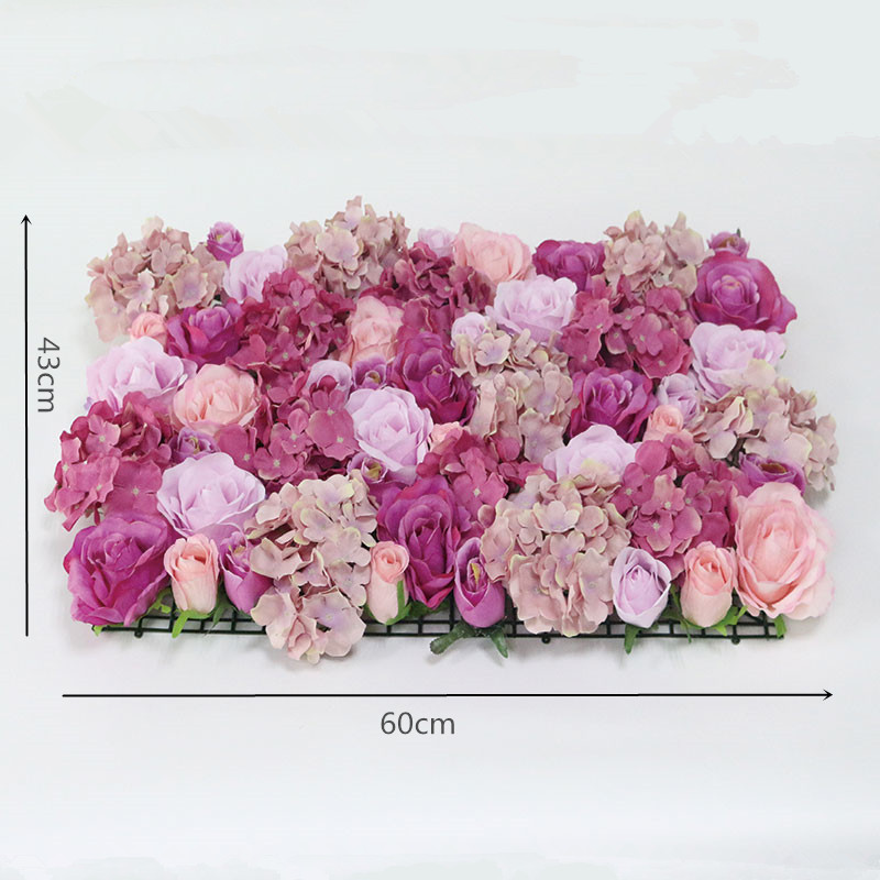 Flone Wedding Decoration Silk Roses Hydrangea Flowers Wall Wedding Background Decoration Arch Flower Row Decoration (3)