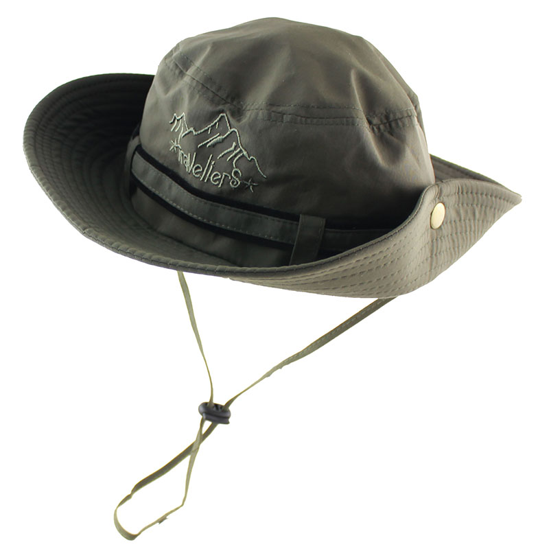 62e45cac80d 2018 UPF 50+ Summer Sun Hat Bucket Men Women Boonie Hat Outdoor UV  Protection Long Wide Brim Army Hiking Fishing Breathable Mesh-in Sun Hats  from Men s ...