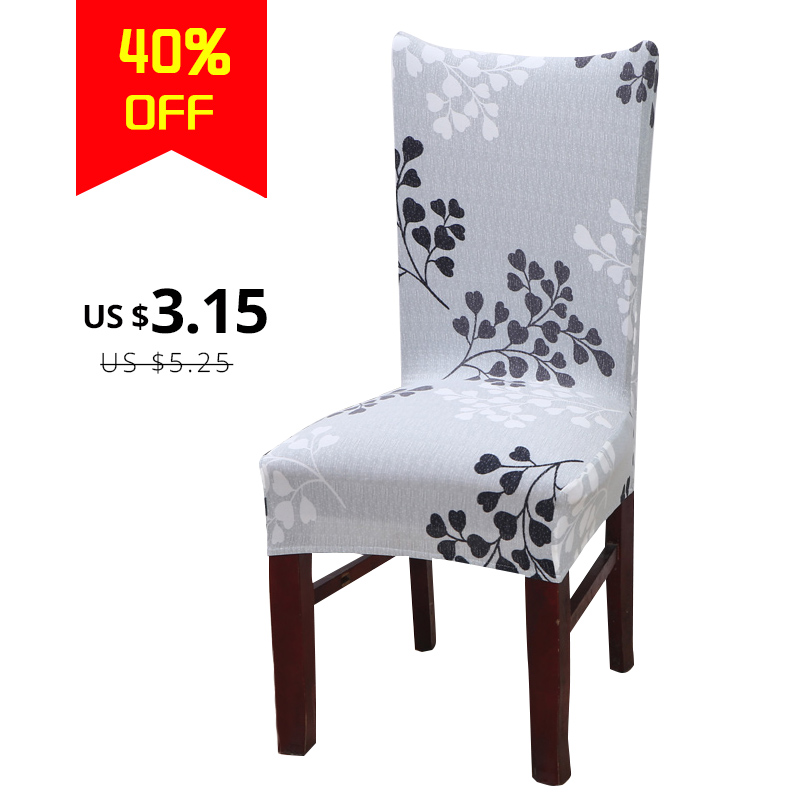 Fine Us 3 2 39 Off Simple Leaves Printing Comely Artsy Anti Dirty Stretch Chair Covers For Weddings Banquet Folding Hotel Chair Cover In Chair Cover From Creativecarmelina Interior Chair Design Creativecarmelinacom