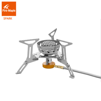цена на Fire Maple Gas-Burner Spark Stove Camping Windproof Gas Outdoor Cooking Camping Hiking Propane Stove Stainless Steel FMS-121