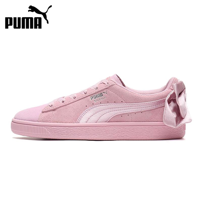 Original New Arrival 2019 PUMA Suede Bow Galaxy Women's  Skateboarding Shoes Sneakers