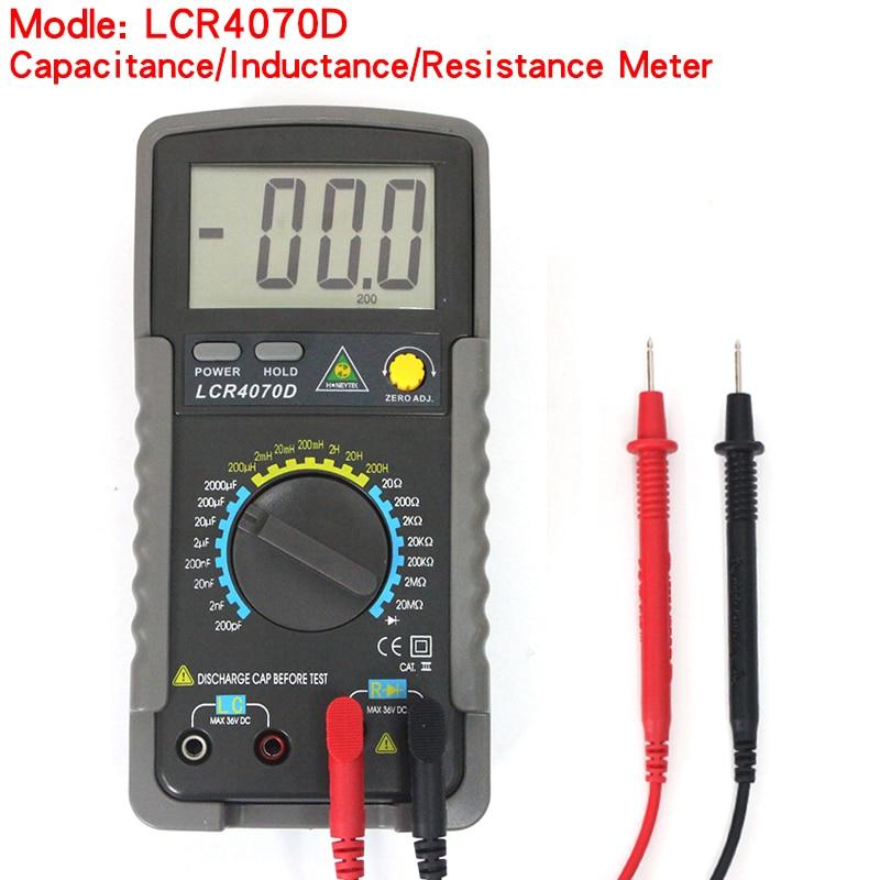 LCR4070D Профессиональный Цифровой Мультиметр LCR, цифровой мост, измеритель сопротивления, измеритель емкости, тестер индуктивности Мультиметры      АлиЭкспресс