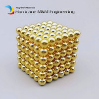 1 conjunto/216 pcs Diâmetro 4mm Ouro Magia bolas Bucky Brinquedo Cubos Mágicos Puzzles Toy Esfera Ímãs de Neodímio Bolas Bucky magnéticos