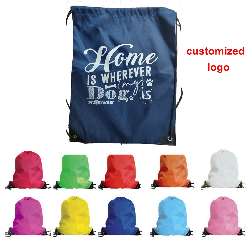 Confident 35*40cm School Sport Travel Bag Gym Swim Dance Shoes Backpack Bundle Nylon Drawstring Rope Custom Shoulder Storage Bags Storage Bags