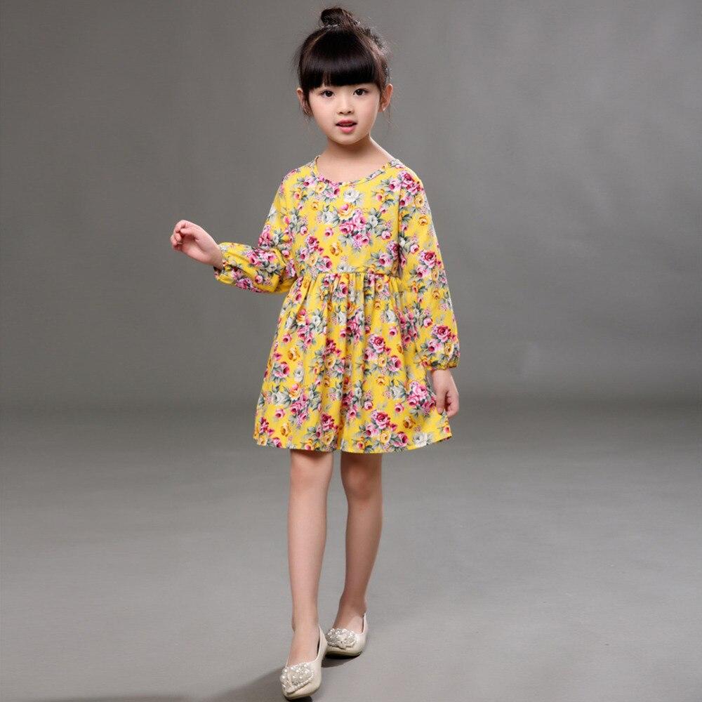 Cute Girl Dresses Fashion Baby Dress Long Sleeve Princess