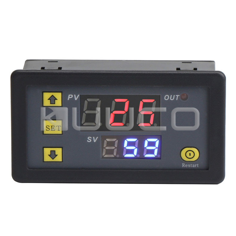 Relay Module DC 24V Multifunction Controller Cycle Timer Delay Time Switch Digital Dual display Relay Module 0~999 hr/min/sec dmx512 digital display 24ch dmx address controller dc5v 24v each ch max 3a 8 groups rgb controller