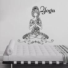 Buddha Girl Quotes Namaste Wall Decals Yoga Mandala Wall Stickers Living Rooms DIY Home Decor Yoga Lotus Decoration