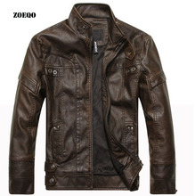 ZOEQO 새 도착 brand motorcycle leather jacket men, men's leather jacket jaqueta 드 couro 팀 masculina, 망 가죽 블루종 코트(China)