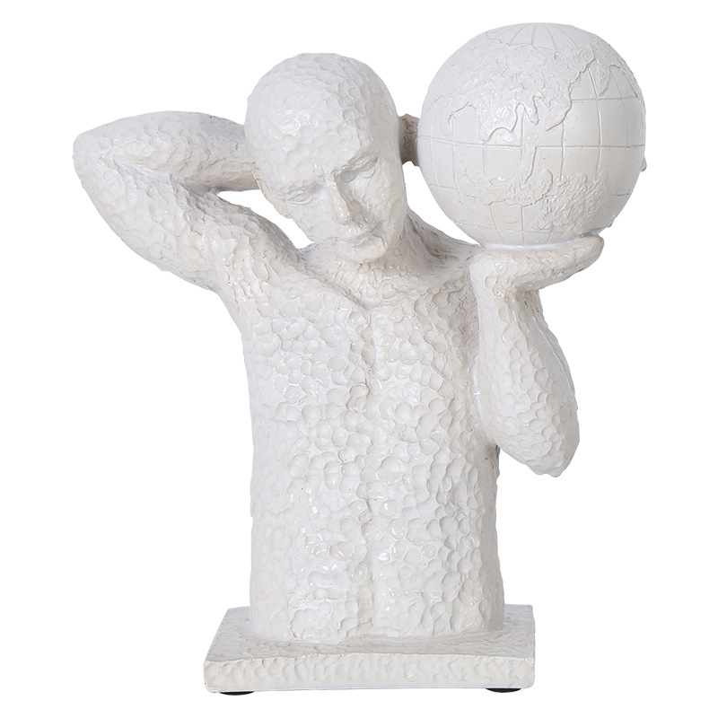 Retro Sport Statue Play Basketball Sculpt Figure Bust Model Resin Craftwork Living Room Home Furnishing Articles White ColorRetro Sport Statue Play Basketball Sculpt Figure Bust Model Resin Craftwork Living Room Home Furnishing Articles White Color