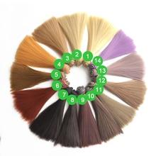 15CM 20CM Straight Doll Hair DIY BJD Dolls Synthetic For