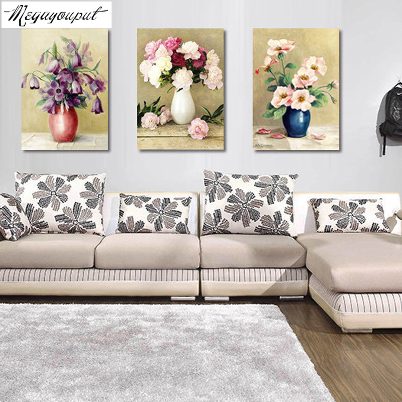 Triptych oil painting reviews online shopping triptych for Best brand of paint for kitchen cabinets with cross stitch wall art