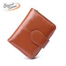 купить New Women Leather Wallet Coin Purse Short Wallet with Zipper Money Bag Cash ID Credit Card Holder Small Wallet cartera mujer дешево