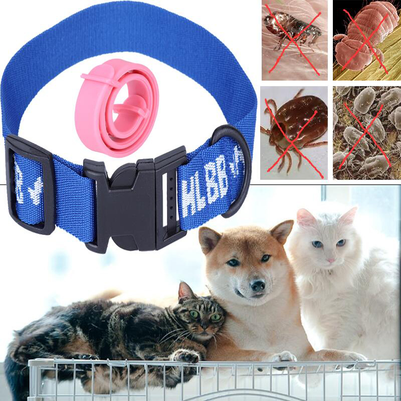Collar Antipulgas Gatos Adjustable Dog Cat Rabbit Neck Strap Safety Anti Fleas Mite Acari Tick Remedy Pet Nylon Collar Supplies
