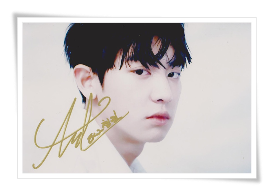 EXO EXO-K Park Chan Yeol autographed authentic signed photo picture 4*6 collection freeshipping 10.2016 01