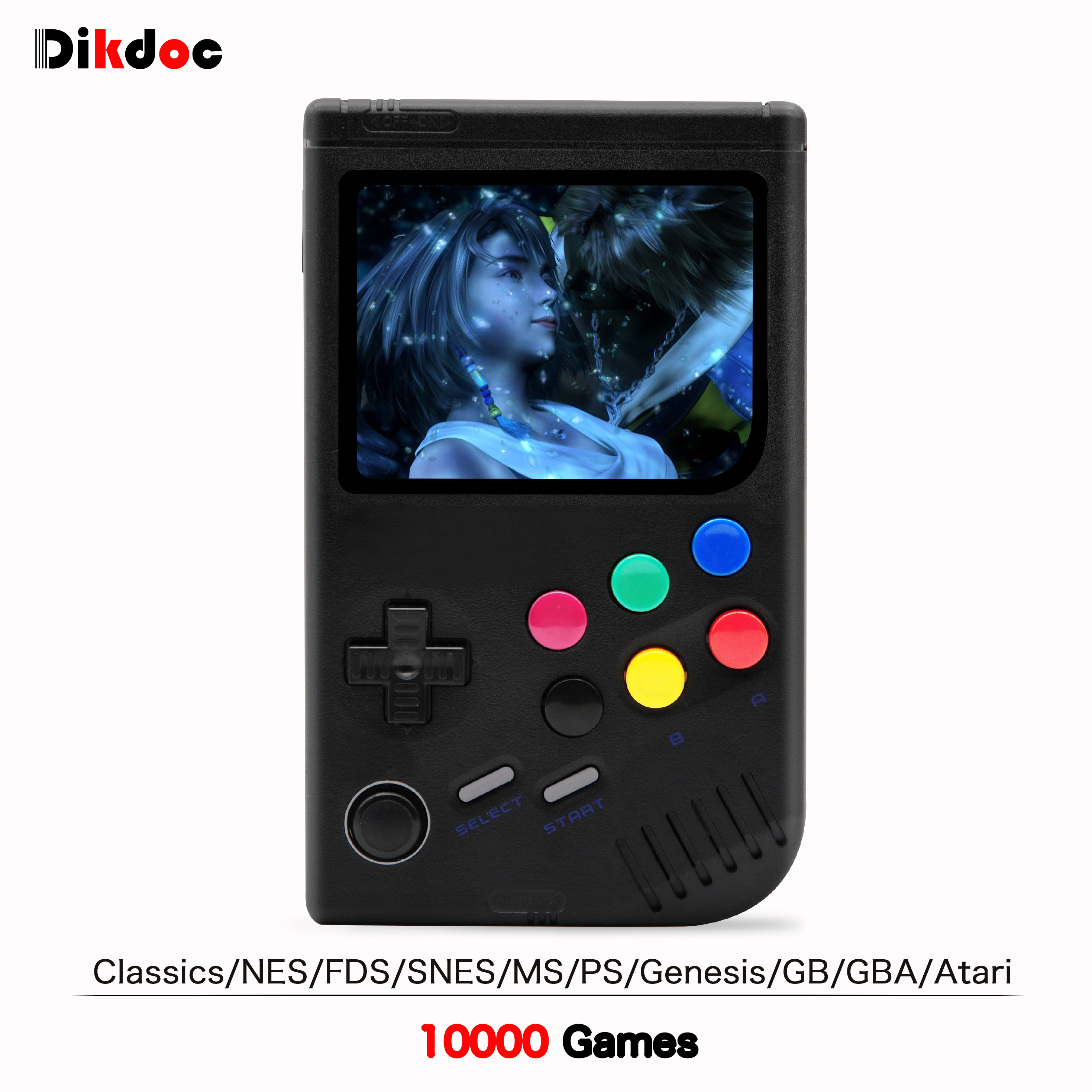 Dikdoc LCL Pi Retro Video Game Console Player Raspberry Pi 3B Handheld Game with 3.5 Inch IPS Screen Built in 10000 Games-in Handheld Game Players from Consumer Electronics    1