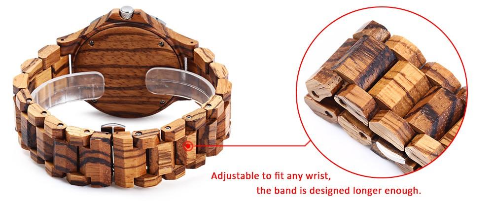 BEWELL 17 Luxury Brand Wooden Men Quartz Watch with Luminous Hands Calendar Water Resistance Analog Wrist watches reloj hombre 6