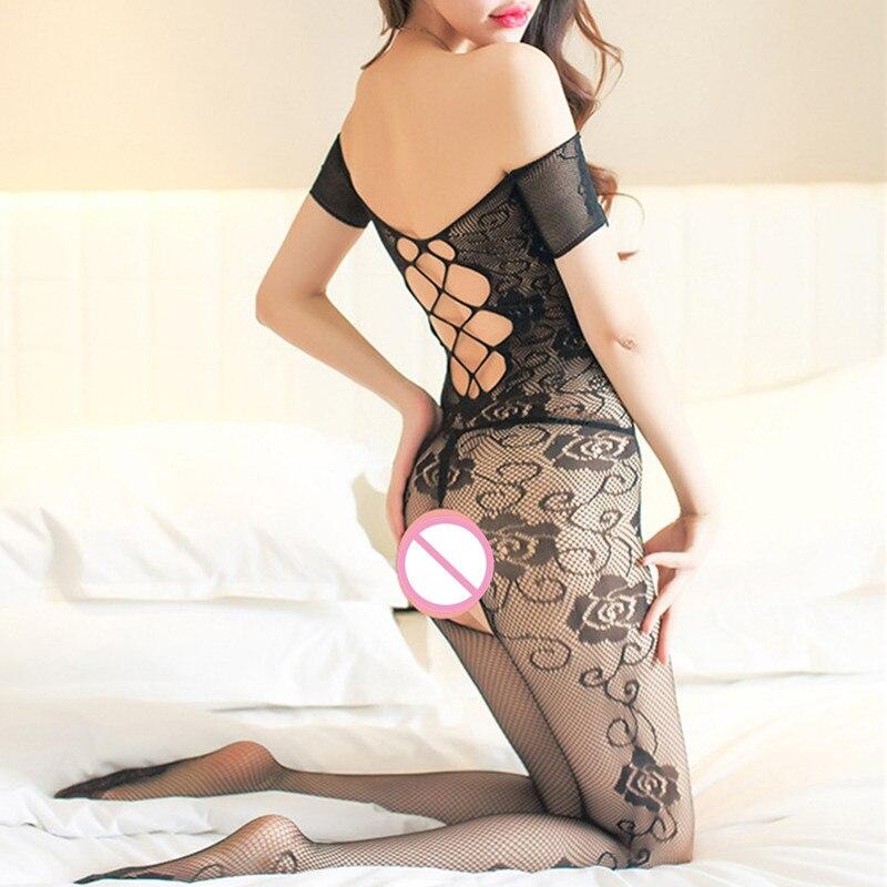 3nueva Moda Venta Superior Negro Abierto Entrepierna Sexy