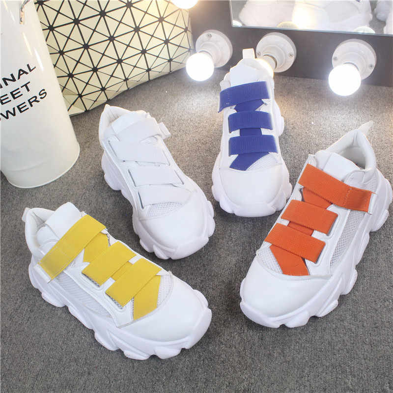NEW 2019 Hot Sale Woman Casual Shoes 40 Plus Size Breathable Female Sneakers Woman Vulcanize Shoes 6cm Platform Sneakers
