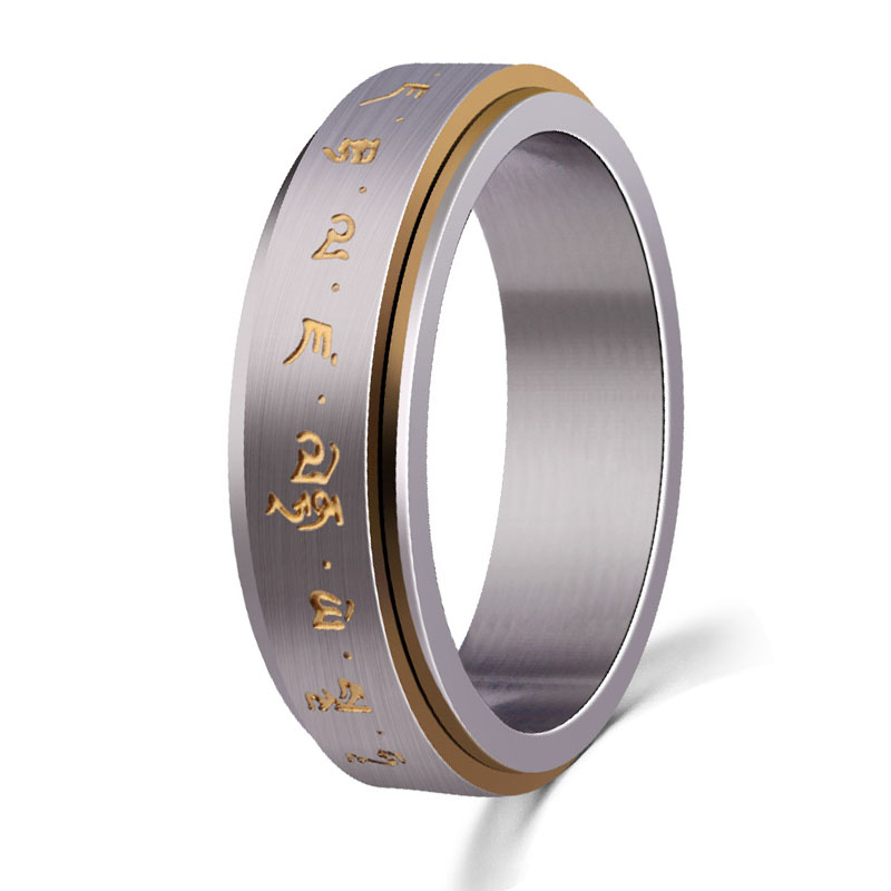 Mantra Rings For Men Stainless Steel Rotate Mantra Ring ...