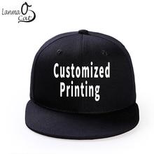 Lanmaocat Custom Print Hip Hop Cap Men or Women Snapback Hat High Quality Adjustable DIY Solid Colour Hats Free Shipping
