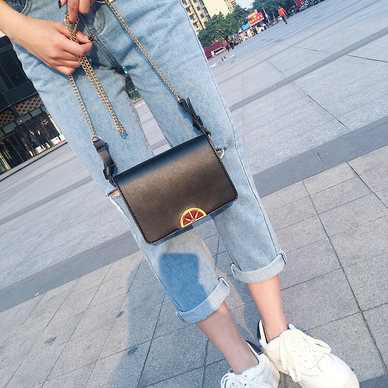 2019 new handbag fruit color details satchel female all-match chain Korean small bag shoulder bag tide