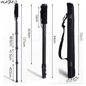 Светильник HAFEI Pinshe 1003, вес 67 дюймов, 171 см, монопод для камеры, портативный монопод для NIKON, CANON, SONY, фотографии с подарочной сумкой