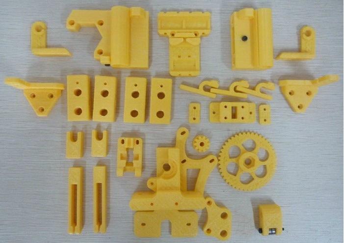 3 D printer accessory Reprap Mendel Prusa i3 hard copy printed parts kit great quality free shipping