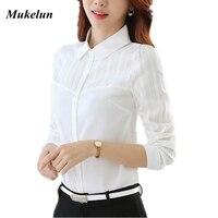 2016 Autumn Women Blouses Casual Female Blusas Winter OL Style Plus Size White Shirt Women Long