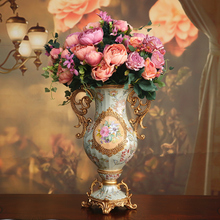 high-end flowers flower ornaments room peony Home Furnishing table flower arrangement silk suit furnishings decorations