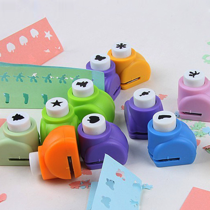 1pc Mini DIY Scrapbook Embossing Punch Hole Paper Handmade Cutter Tool Craft Calico Printing Flower Hole Puncher School Supplies diy printing paper cutter embossed instrument album accessories scrapbooking machine kids craft gift hole puncher dd1462