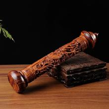 Ebony Wood Dragon Sculpture Stick Incense Burner Wood Pomades Joss Sticks Incense Holder Handmade Censer Aromatherapy Furnace