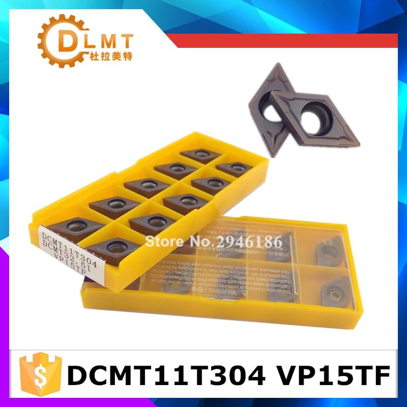 20 vnt. DCMT11T304 VP15TF DCMT11T308 VP15TF vidiniai tekinimo įrankiai Karbido intarpai Pjovimo įrankis CNC įrankiai Tekinimo įrankiai Tekinimo pjoviklis