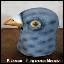 Free shipping Halloween Cosplay Factory Price! New Pigeon Mask Latex Giant Bird Head Halloween Cosplay Costume Theater Prop